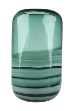 Tall Handblown Oceanic Glass Vase