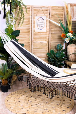 Fringed Stripe Hammock