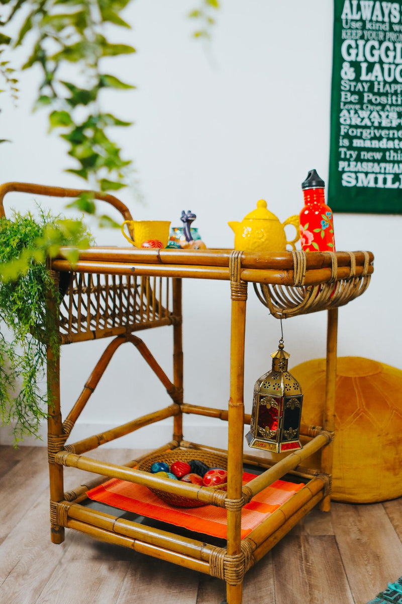 Rattan Drinks Trolley