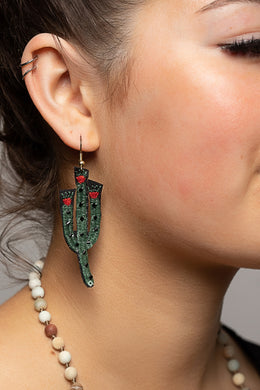 Prickle Berry Cactus Earrings
