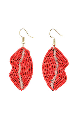 Strawberry Kiss Lips Earrings