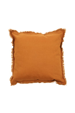 Assorted Fringed Canvas Cushion