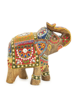 Handpainted Indian Elephant Statue
