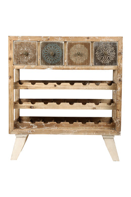 Rustic Bottle Rack