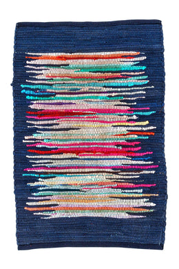 Navy Cloud Chindi Rug - Small