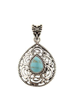 Pendant Teardrop Navajo Scalloped Teardrop