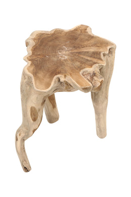 Teak Root Single Piece Side Table