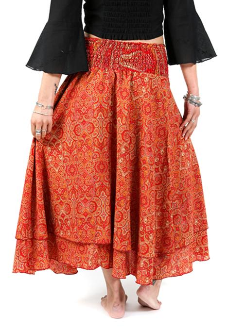 Assorted Silk Gypsy Skirt