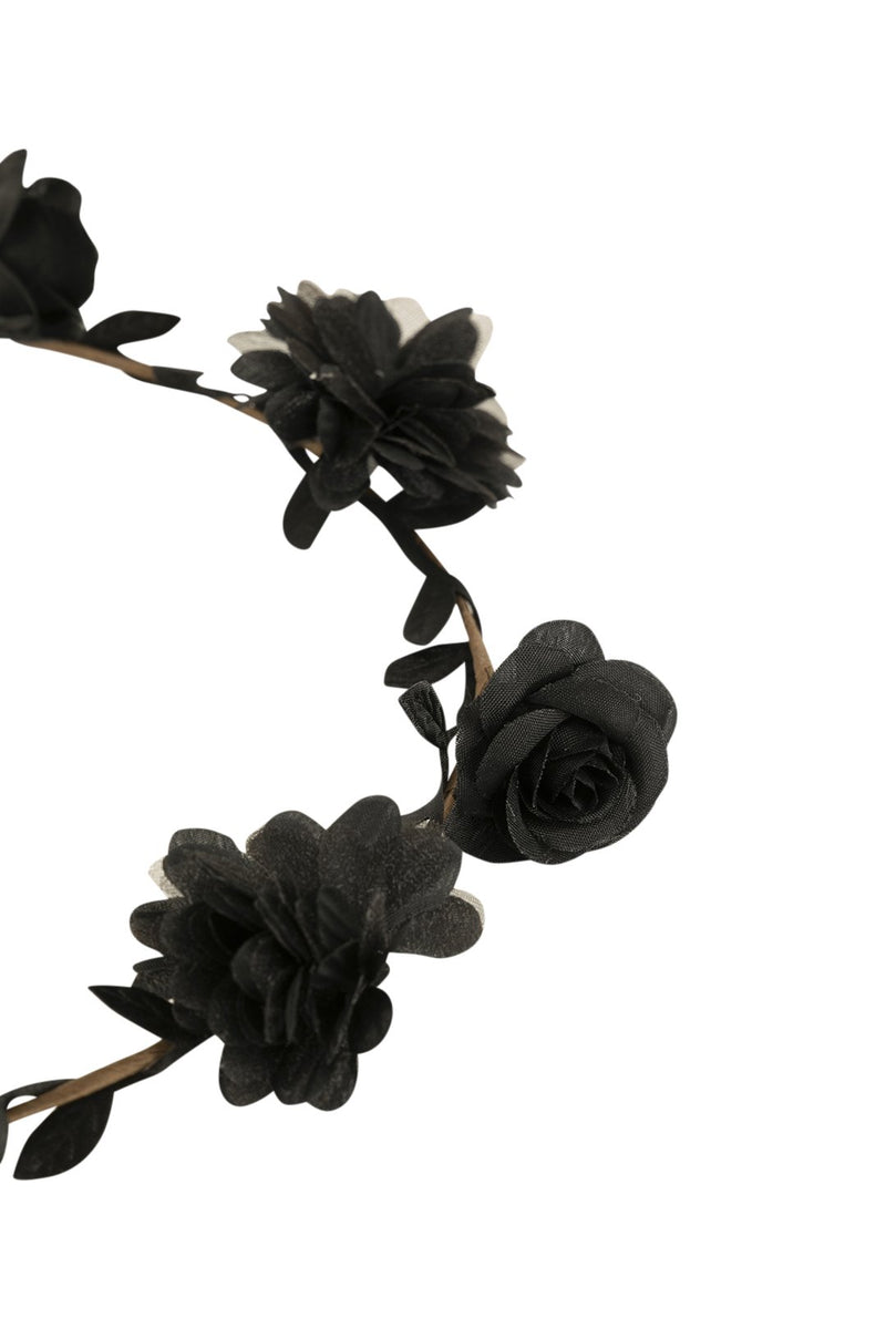 Dainty Black Flower Crown