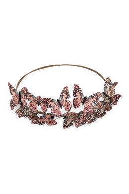 Pink Butterfly Crown