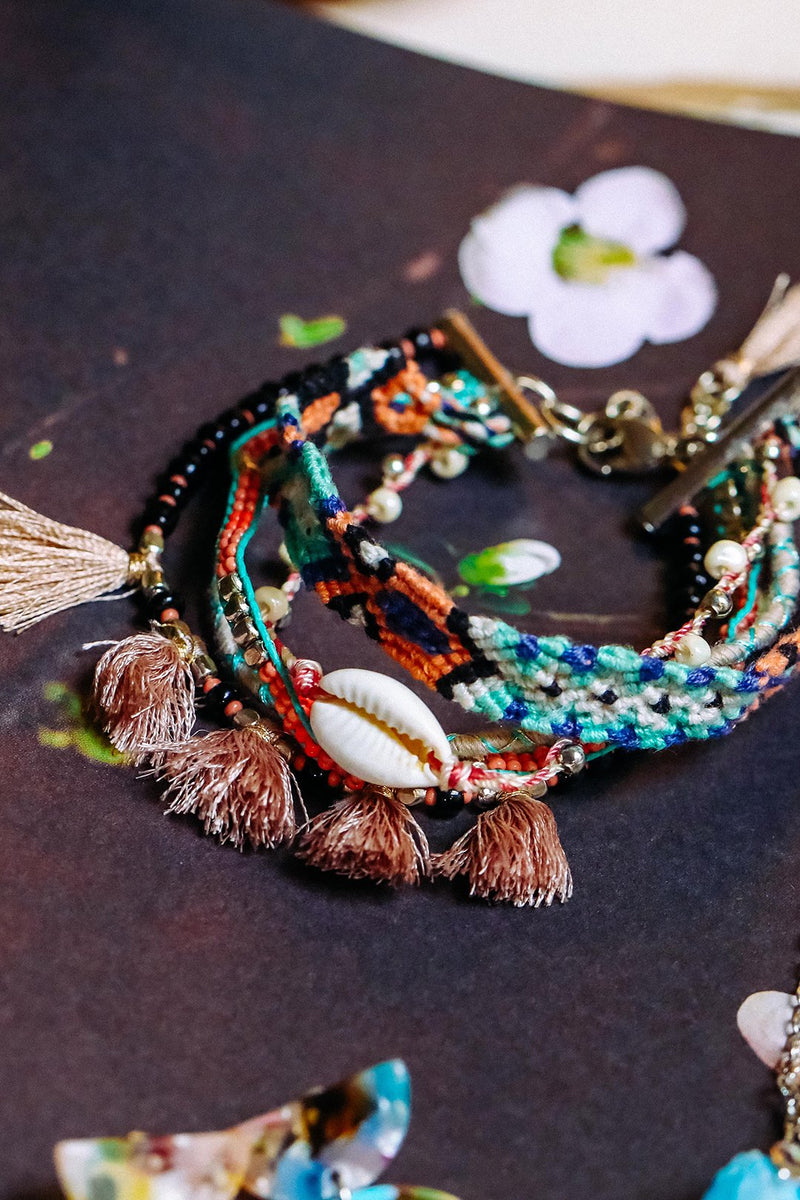 Bracelet Coachella Friendship Tassels Multi
