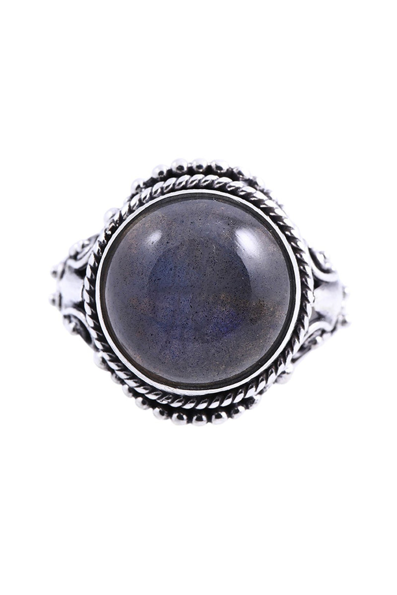 Tribal Statement Labradorite Silver Ring