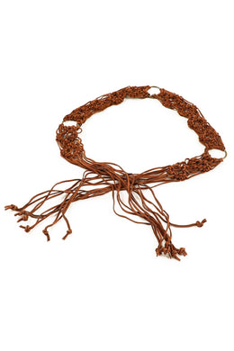 Three Loops Knotted Suede Leather Belt