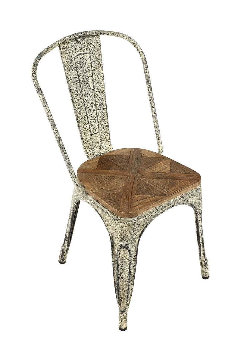 Vintage Elm Iron Dining Chair