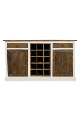 Elm Two Door Bottle Rack Cabinet