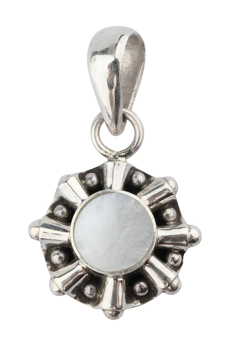 Dainty Star Mother of Pearl Silver Pendant