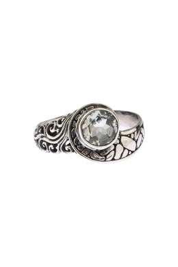 Mixed Texture Green Amethyst Ring