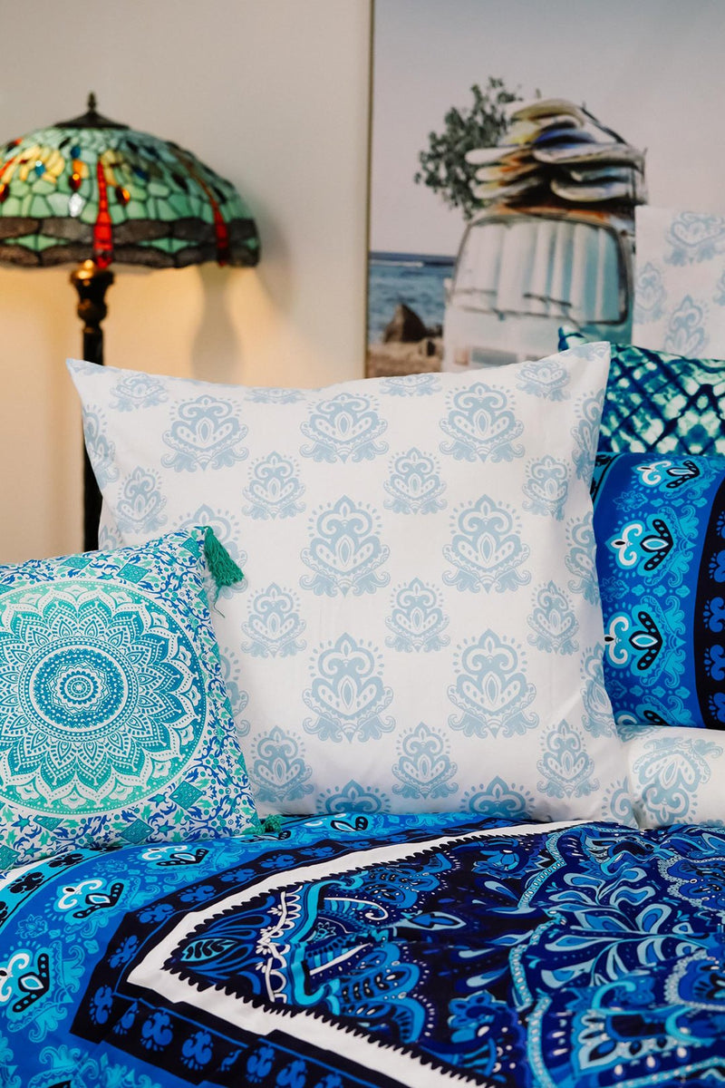 European Intricate Print Pillowcases Pair