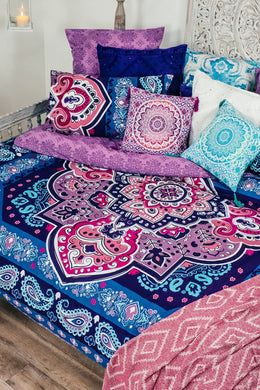 India Intricate Print Queen Quilt Set