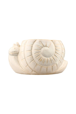 White Ceramic Snail Plant Pot