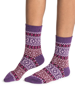 Assorted Checks & Diamonds Womens Socks