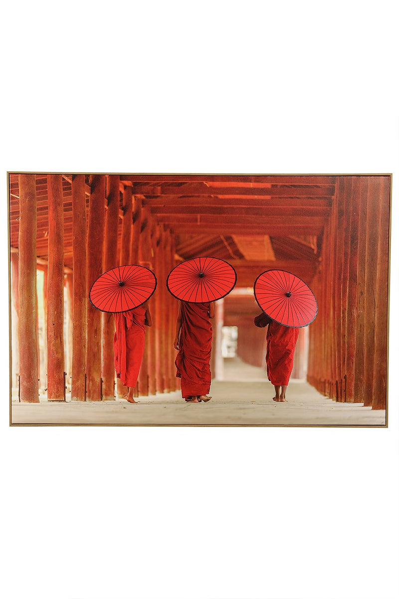 Monks Framed Canvas