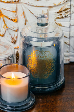 Large Mandala Glass Dome Candle