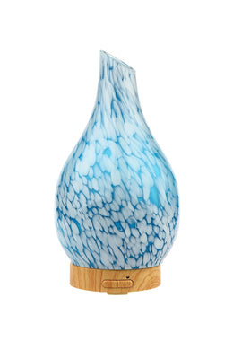 Teal Glass Tear Drop Electric Diffuser