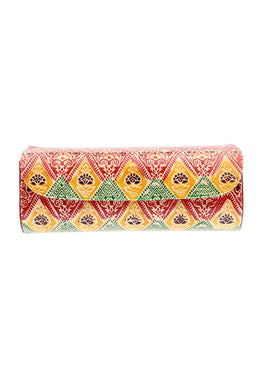 Assorted Painted Floral Aztec Glasses Case