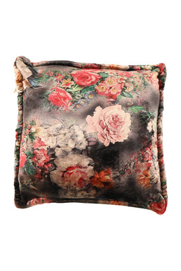 Floral Print Polar Fleece Cushion