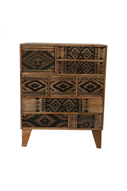 9 Drawer Aztec Cabinet