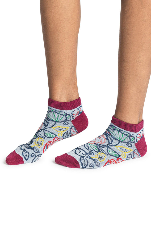 Assorted Floral Womens Ankle Socks
