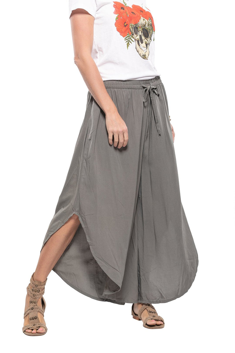 Plain Gypsy Wide Leg 3/4 Pants