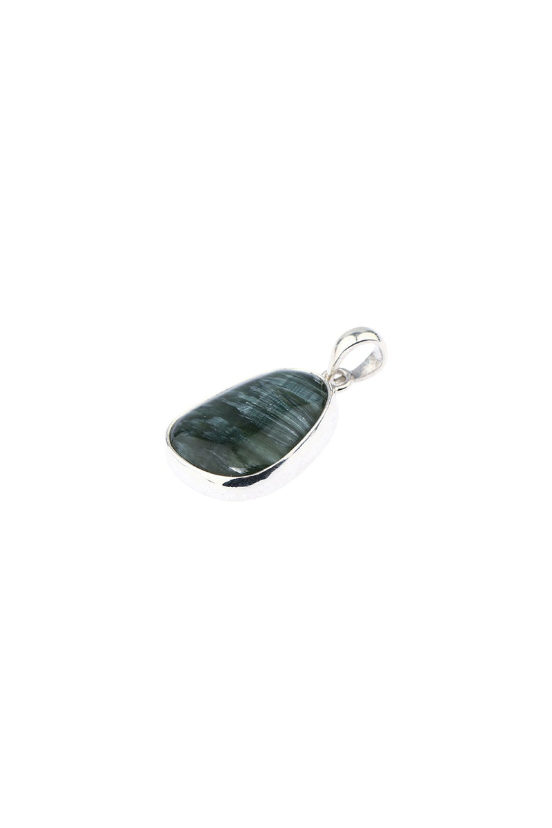 Seraphinite Medium Silver Pendant