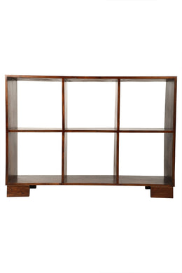 Acacia & Walnut Horizontal Cube Shelf