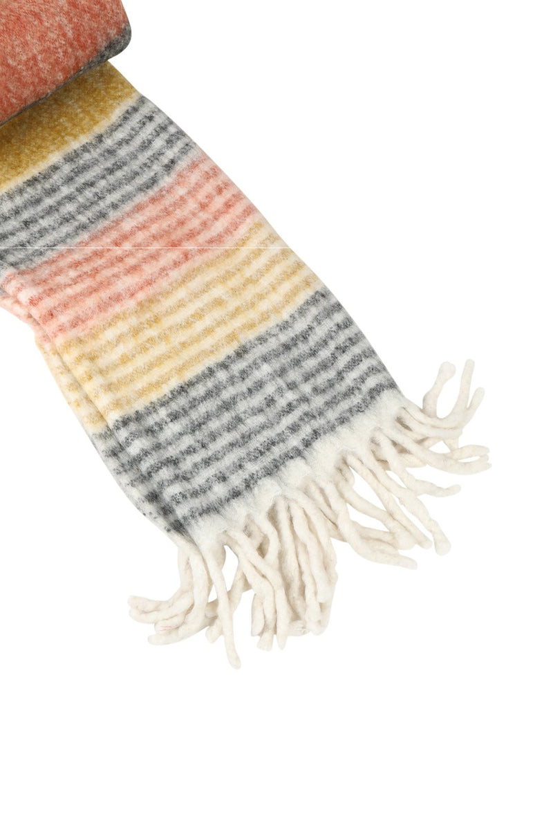Multi Stripe Throw