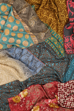 Assorted Upcycled Saree Large Square Scarf