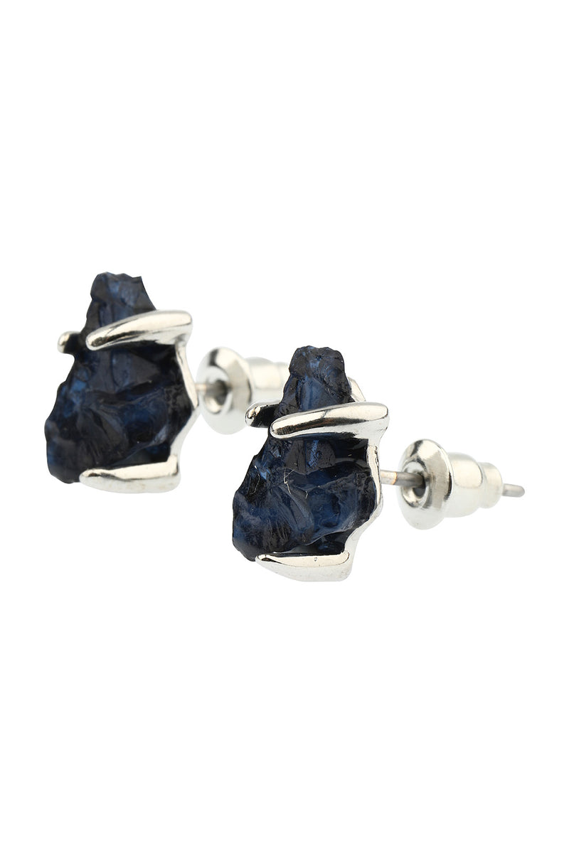 Raw Gem Stud Earrings