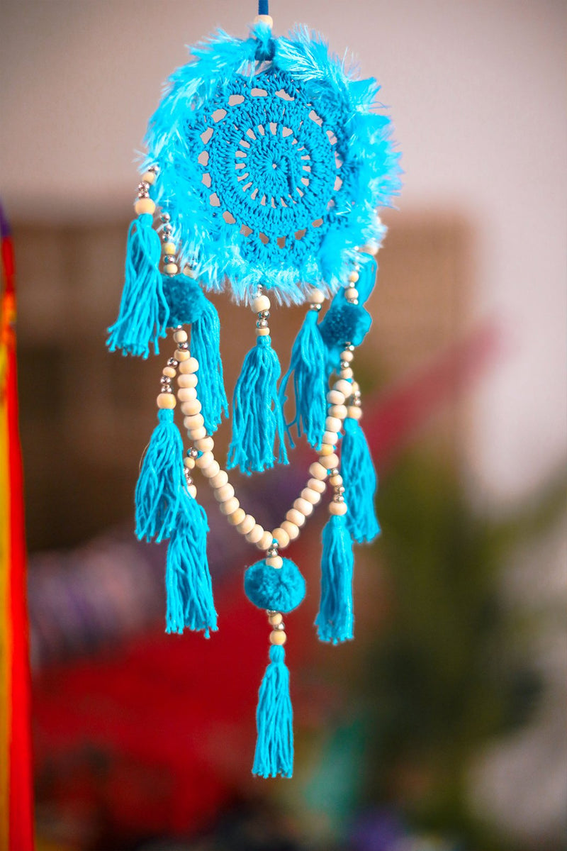 Light Blue Crochet Dreamcatcher