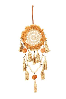 Fuzzy Ochre Earth Dream Catcher