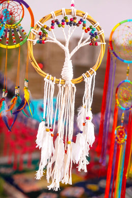 Rattan Feather Tree of Life Dreamcatcher