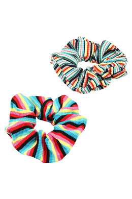 Set of 2 Stripe Scrunchies