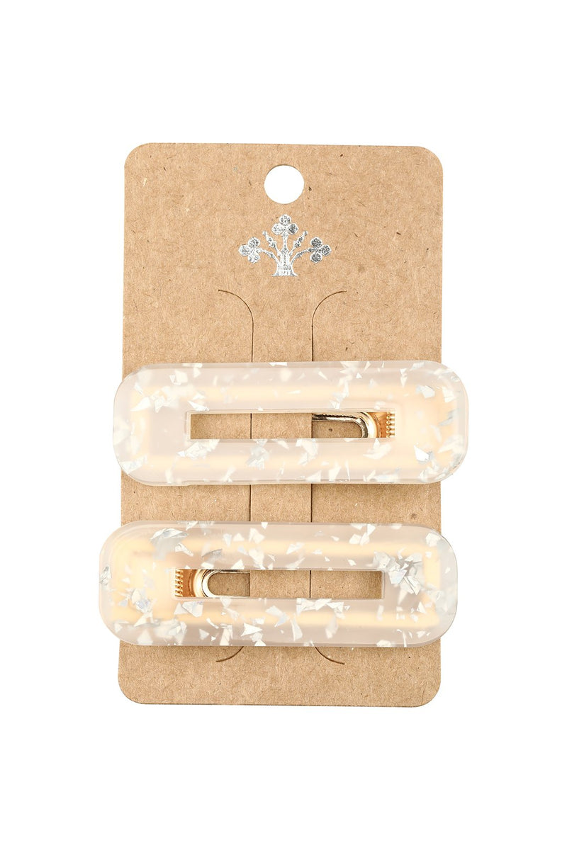 Set of 2 Acrylic Barrette Hair Clips