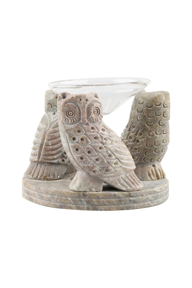 Glass & Soapstone Oil Burner