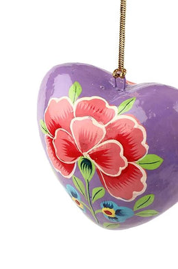 Peony Heart Decoration