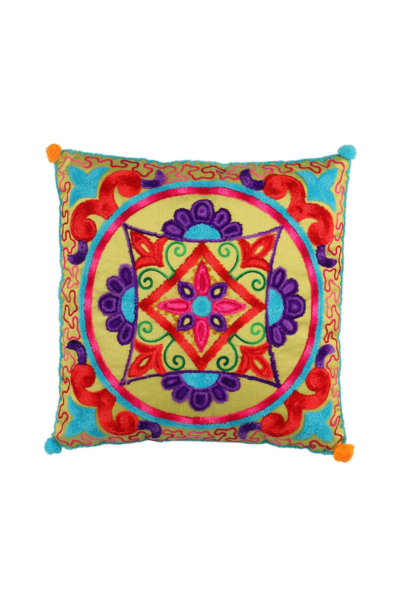 Lola Brightly Embroidered Cushion