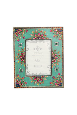 Lotus Henna Photo Frame