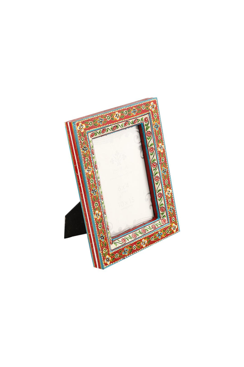 Flower Painted Photo Frame