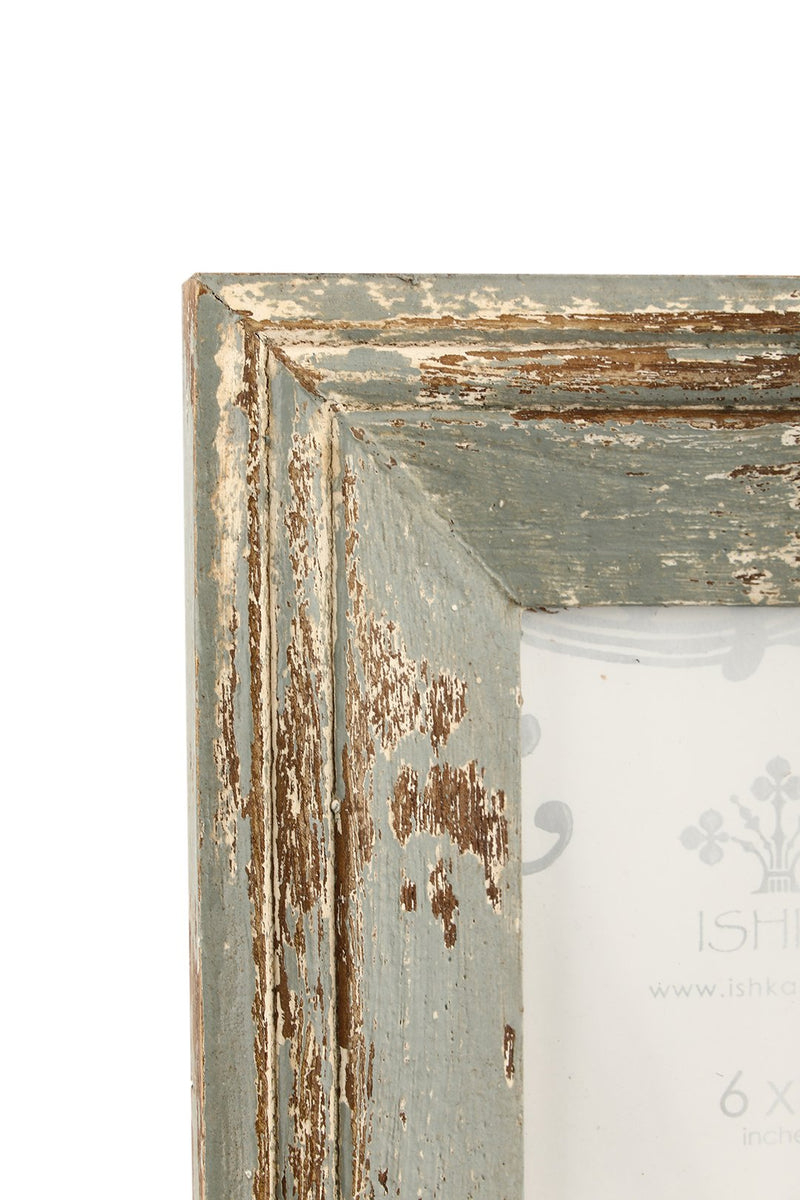 Weathered Vintage Grey Photo Frame