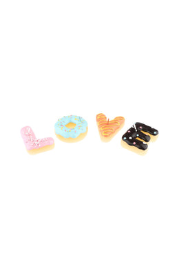 Multicolour Cake Candle Love Letters Set of 4